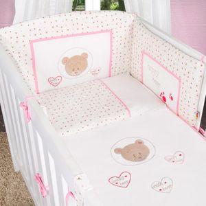 5-tlg. Babybettset Cute Bear in Rosa – Bild 6