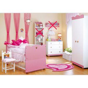Babyzimmer Kleine Prinzessin Schrank Kommode, Bett und Lattenrost – Bild 1