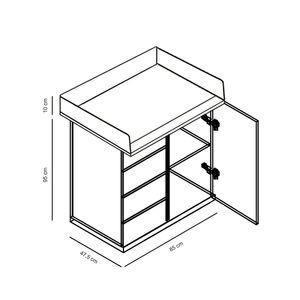 Wickelkommode inkl. Wickelaufsatz Zauberfee in weiß mit Applikationen – Bild 2