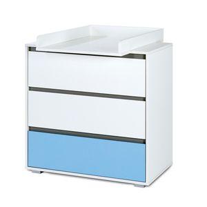 Babyzimmer 5-tlg. DALIA Blue mit 3 türigem Kleiderschrank & Bettkasten – Bild 3