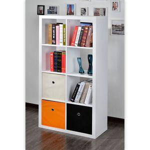 Raumteiler Mexx Bücherregal Regal 8 Fächer Hochglanz Weiss Schwarz Rot B-Ware – Bild 3