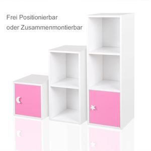 Regal Kinderregal Treppenregal Raumteiler Stufenregal Bücherregal Standregal Rosa – Bild 2