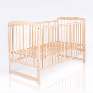 Baby- und Kinderbett aus der Serie NATURA Ola in Kiefer 120 x 60 cm – Bild 1