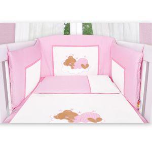 Babyzimmer Atlanta in Weiss 10 tlg. mit 3 türigem Kl. + Sleeping Bear Rosa – Bild 8
