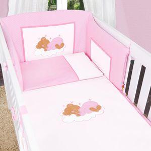 Babyzimmer Atlanta in Weiss 10 tlg. mit 3 türigem Kl. + Sleeping Bear Rosa – Bild 9