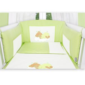 Babyzimmer Atlanta in Weiss 10 tlg. Mit 3 türigem Kl. + Sleeping Bear Grün – Bild 8