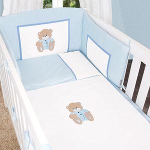 Babyzimmer Atlanta in Weiss 10 tlg. mit 3 türigem Kl. + Memi Bear Blau – Bild 12