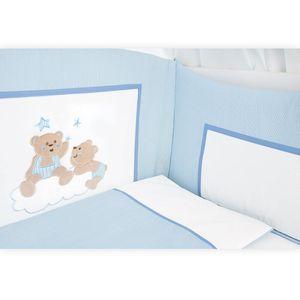 Babyzimmer Atlanta in Weiss 10 tlg. mit 3 türigem Kl. + Joy Blau – Bild 10