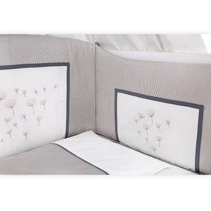Babyzimmer Atlanta in Weiss 10 tlg. mit 3 türigem Kl. + Textilset von Blossom Weiss – Bild 10