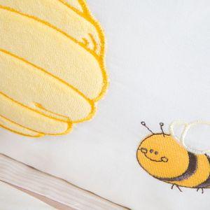 Babyzimmer Atlanta in Weiss 10 tlg. mit 3 türigem Kl. + Textilset von Honey Bear Beige – Bild 15