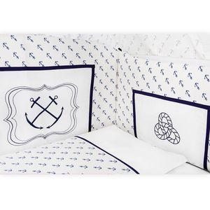 Babyzimmer Atlanta in Weiss 10 tlg. mit 3 türigem Kl. + Textilset von Kleiner Matrose Blau – Bild 11
