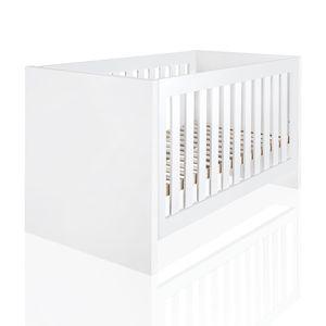 Babyzimmer Atlanta in Weiss 10 tlg. mit 3 türigem Kl. + Textilset von Marienkaefer Rot – Bild 3