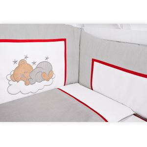 Babyzimmer Atlanta in Weiss 10 tlg. mit 3 türigem Kl. + Sleeping Bear Grau – Bild 10