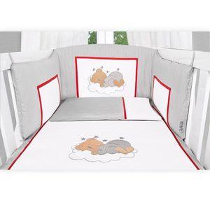 Babyzimmer Atlanta in Weiss 10 tlg. mit 3 türigem Kl. + Sleeping Bear Grau – Bild 11