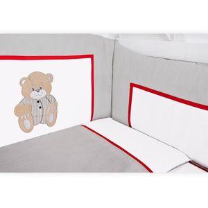 Babyzimmer Atlanta in Weiss 10 tlg. mit 3 türigem Kl. + Memi Bear Grau – Bild 10