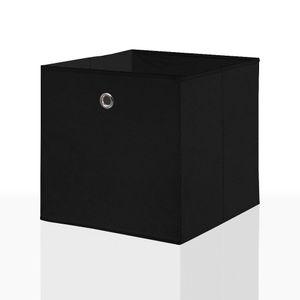 2er Set Faltbox in der Farbe Schwarz 34 x 34 cm Faltkiste Regalkorb Regalbox Kinderbox Einschubkorb Aufbewahrungsbox Stoffbox – Bild 2