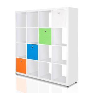 10er Set Faltbox in der Farbe Schwarz 34 x 34 cm Faltkiste Regalkorb Regalbox Kinderbox Einschubkorb Aufbewahrungsbox Stoffbox – Bild 4