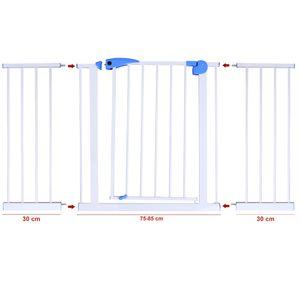 Treppenschutzgitter Türschutzgitter Absperrgitter 75-170cm Türgitter – Bild 17