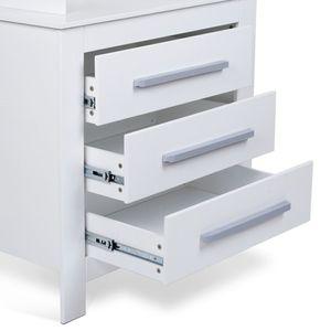 Wickelkommode mit drei Schubladen und Sicherheitsrand – Bild 5