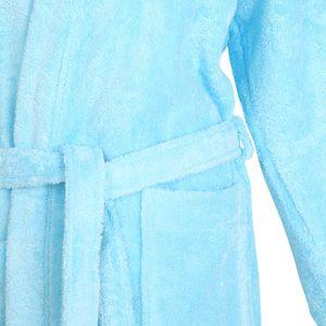 Bademantel Morgenmantel Saunamantel Kimono flauschig warm elegant Wellness Sauna S-XL in 7 Farben - 100% Baumwolle Frottee Kimono Bathrobe – Bild 4