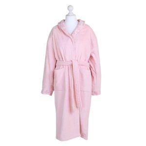 Bademantel Morgenmantel Saunamantel flauschig warm elegant Wellness Sauna S-XL braun cream rosa - 100% Baumwolle Frottee Luxford – Bild 5