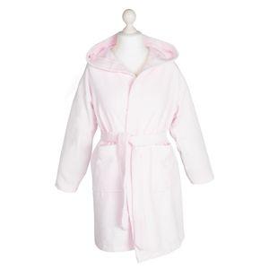 Damen Bademantel warm mit Kaputze kuschelig Wellness Sauna S-L - 100% Baumwolle Velour – Bild 11