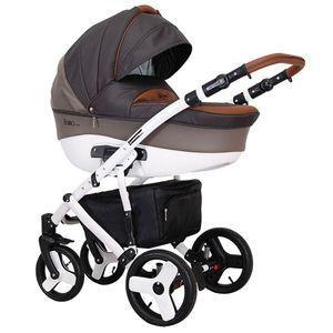 Kombikinderwagen 3 in 1 Babywanne Florino +  Sportwagen 12 Designs – Bild 4