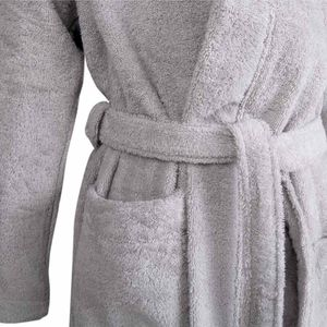 Bademantel Morgenmantel Saunamantel mit Kaputze flauschig warm elegant Wellness Sauna S-XL in verschiedenen Farben - 100% Baumwolle Frottee Hooded Bathrobe – Bild 9