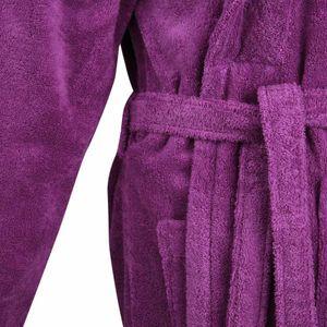 Bademantel Morgenmantel Saunamantel flauschig warm elegant Wellness Sauna S-XL  - 100% Baumwolle Frottee SHAWL COLLAR BATHROBE – Bild 18
