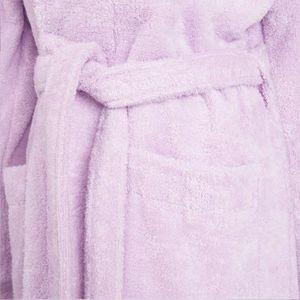 Bademantel Morgenmantel Saunamantel flauschig warm elegant Wellness Sauna S-XL  - 100% Baumwolle Frottee SHAWL COLLAR BATHROBE – Bild 13