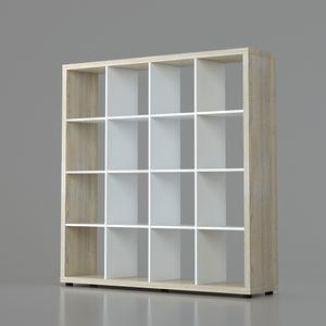 Raumteiler Mexx Bücherregal Regal Weiss Schwarz Sonoma 16 Fächer 4 x 4 – Bild 6