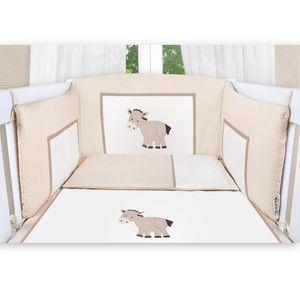 Babyzimmer Enni in weiss 10 tlg. mit 2 türigem Kl. + Textilien von Prestij, beige – Bild 4