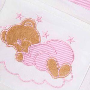 Hochglanz Babyzimmer Memi 19-tlg. mit Textilien Sleeping Bear in Rosa – Bild 12