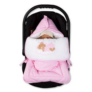 Hochglanz Babyzimmer Memi 19-tlg. mit Textilien Sleeping Bear in Rosa – Bild 16