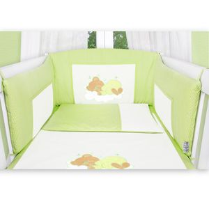 Hochglanz Babyzimmer Memi 19-tlg. mit Textilien Sleeping Bear in Grün – Bild 8