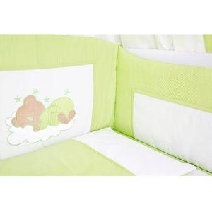 7-tlg. Bettsetpaket Sleeping Bear in grün inkl. Schlafsack und Fußsack – Bild 3