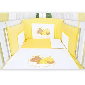 7-tlg. Bettsetpaket Sleeping Bear in gelb inkl. Schlafsack und Krabbeldecke – Bild 4
