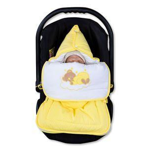 7-tlg. Bettsetpaket Sleeping Bear in gelb inkl. Wickelauflage und Fußsack – Bild 8