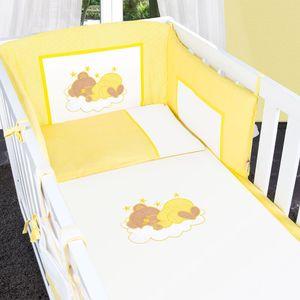 7-tlg. Bettsetpaket Sleeping Bear in gelb inkl. Wickelauflage und Fußsack – Bild 5