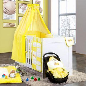 7-tlg. Bettsetpaket Sleeping Bear in gelb inkl. Wickelauflage und Fußsack – Bild 1