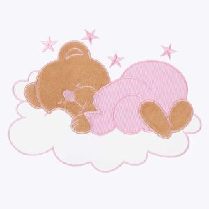 7-tlg. Bettsetpaket Sleeping Bear in rosa inkl. Fußsack und Wickelauflage – Bild 6