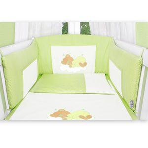 7-tlg. Bettsetpaket Sleeping Bear in grün inkl. Krabbeldecke und Lätzchen – Bild 4