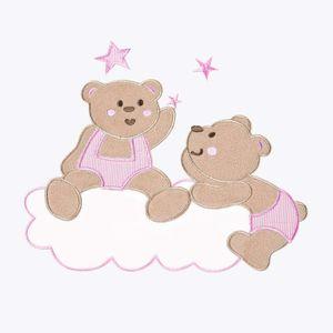 7-tlg. Joy Bettset mit Stickerei inkl. Babykrabbeldecke + Babybetttasche in rosa – Bild 6