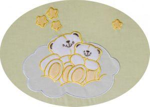 7-tlg. Enni Bear Bettset inklusive Babykrabbeldecke + Babylätzchen -GELB- & -OVP- – Bild 3