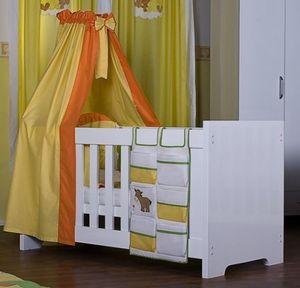 8 teiliges Bettset Luxus Prestij in gelb inkl. Wickelauflage, Decke + Kissen – Bild 2