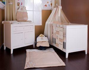 8-tlg. Bettsetpaket Memi Bear inkl. Lätzchen, Decke + Kissen – Bild 1