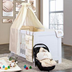 8-tlg. Bettsetpaket Joy in beige inkl. Himmelstange, Babybettdecke und Kissen – Bild 1