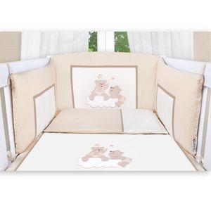 8-tlg. Bettsetpaket Joy in beige inkl. Himmelstange, Babybettdecke und Kissen – Bild 4