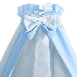 8-tlg. Bettsetpaket Joy in blau inkl. Lätzchen, Babydecke und Kissen – Bild 4