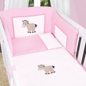 8-tlg. Bettsetpaket Prestij in rosa inkl. Babyfußsack, Babydecke und Kissen – Bild 5